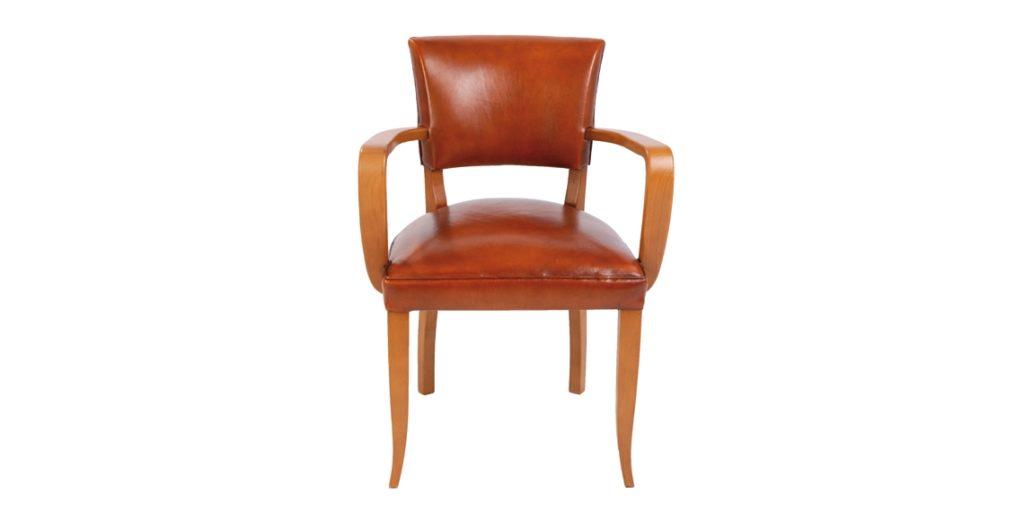 Bridge, chaise, cuir rustique, face