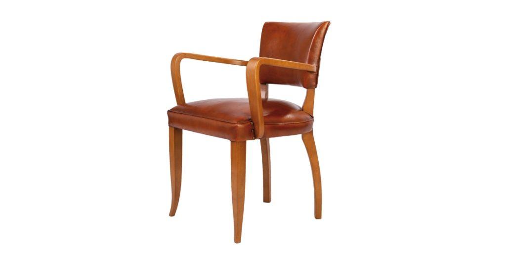 Bridge, chaise, cuir rustique, côté