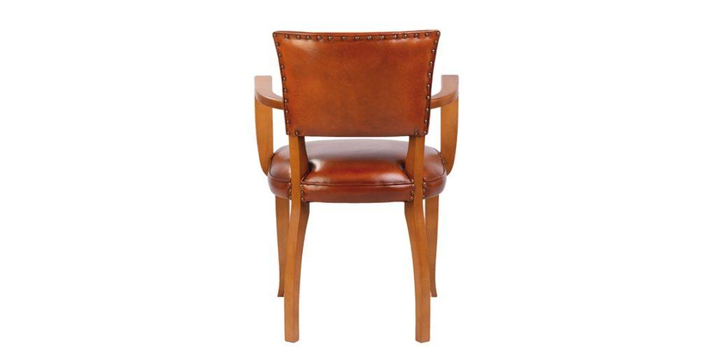 Bridge, chaise, cuir rustique, dos