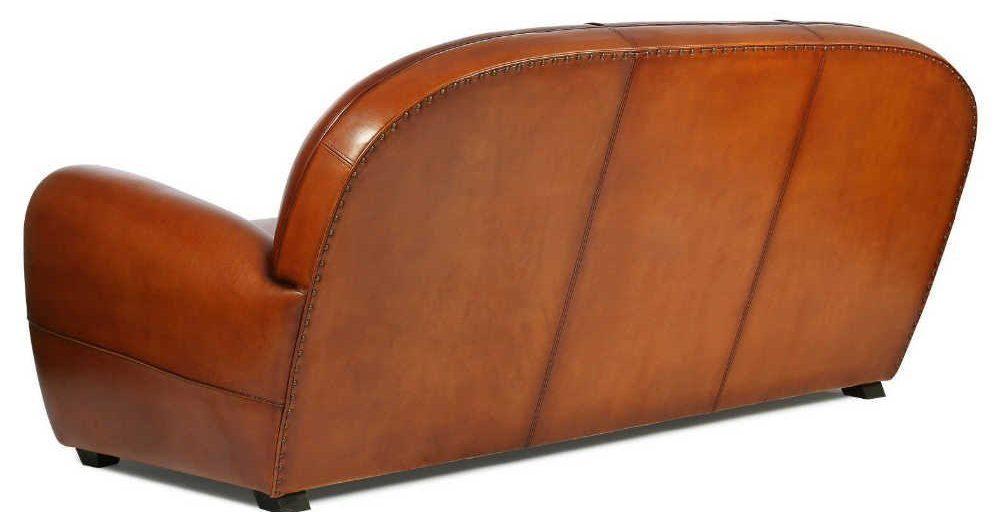 Cabaret, canapé 3 places, cuir rustique, dos