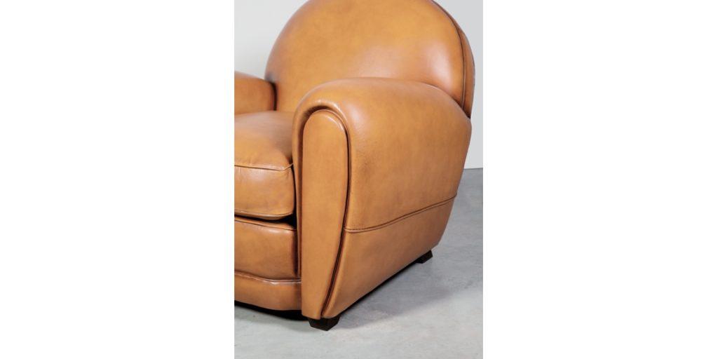 Cabaret, fauteuil, cuir gold, accoudoir