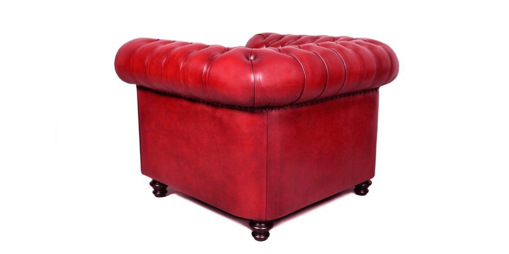 Churchill, fauteuil, cuir rouge, arrière