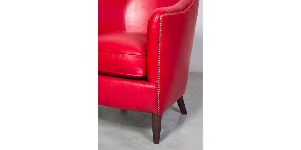 Coco 1929, fauteuil, cuir rustique, accoudoir