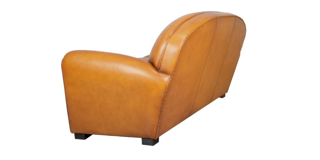 Epicure, canapé 3 places, cuir miel, arrière