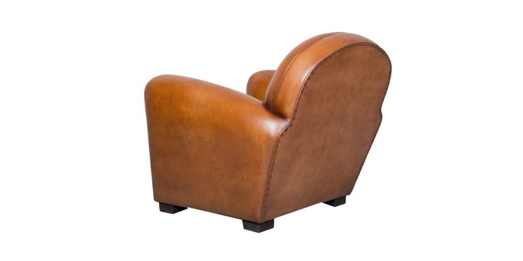 Epicure, fauteuil, cuir havane, arrière
