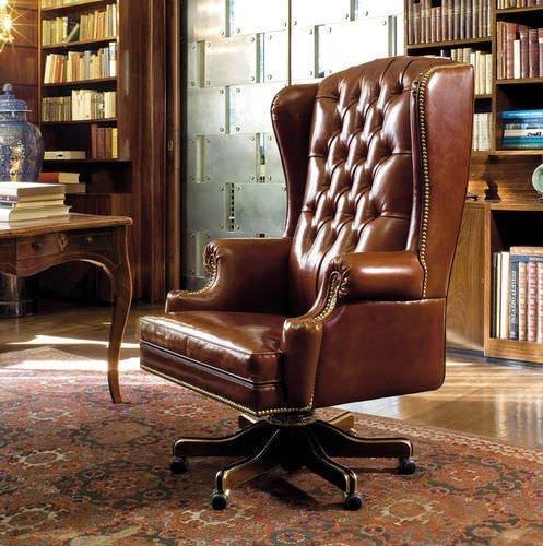 Buckingham, fauteuil, cuir havane, ambiance