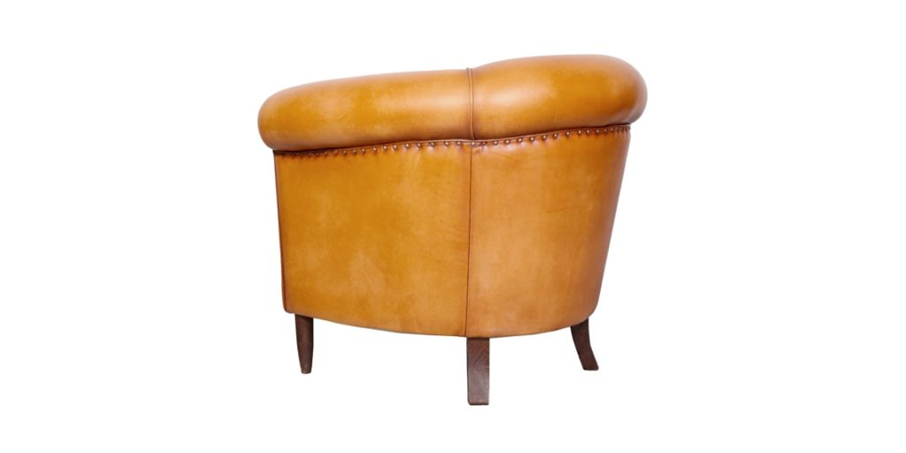 harry's 1950, fauteuil club, cuir miel, arrière