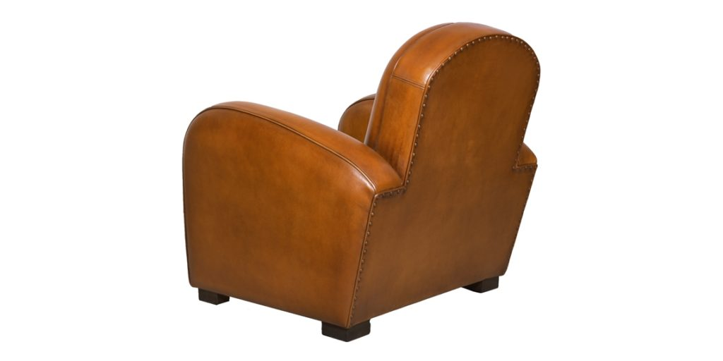 Hemingway, fauteuil, cuir rustique, arrière