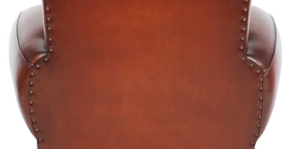 Moustache 1930, fauteuil, cuir cognac, arrière